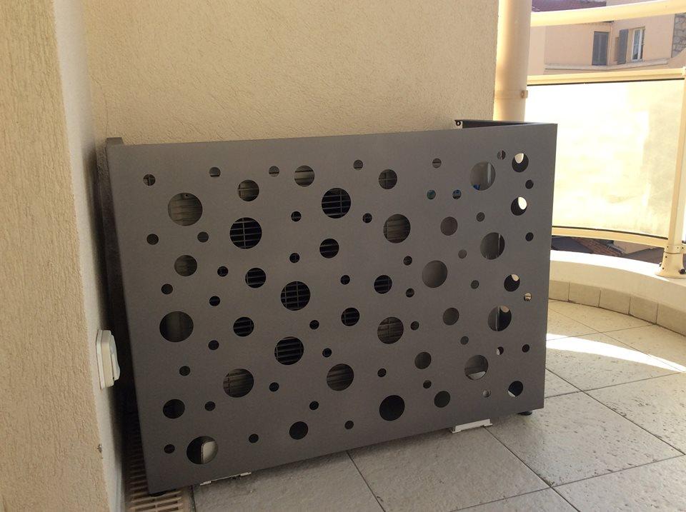 cache climatiseur exterieur protection visuel de pompe chaleur cabane et cache climatiseur. Black Bedroom Furniture Sets. Home Design Ideas