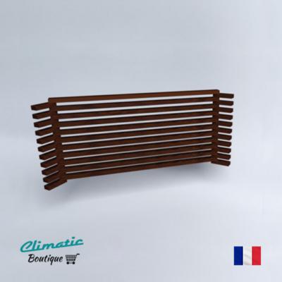 Decoclim coffre d 39 angle bois massif climatic boutique for Protection climatiseur exterieur