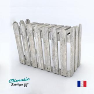 cache climatiseur exterieur en bois