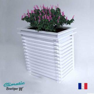 cache climatisation design avec bac à fleur