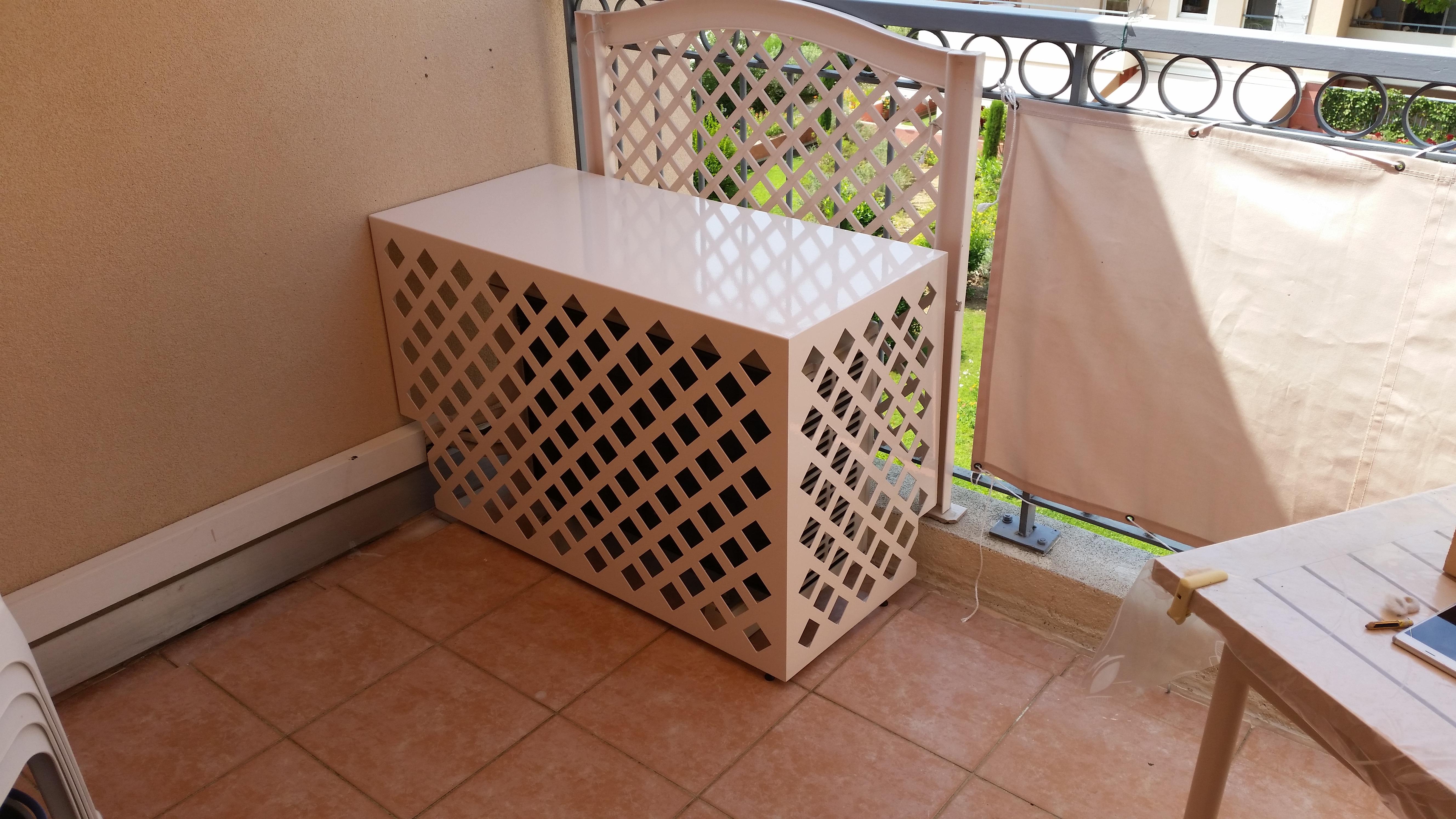 cache groupe exterieur clim en t le climatic boutique. Black Bedroom Furniture Sets. Home Design Ideas
