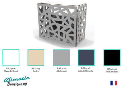 couleur pour cache climatiseur extérieur personnalisable